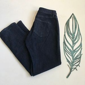 Loft Curvy Straight Dark Wash Jeans Size 29 8